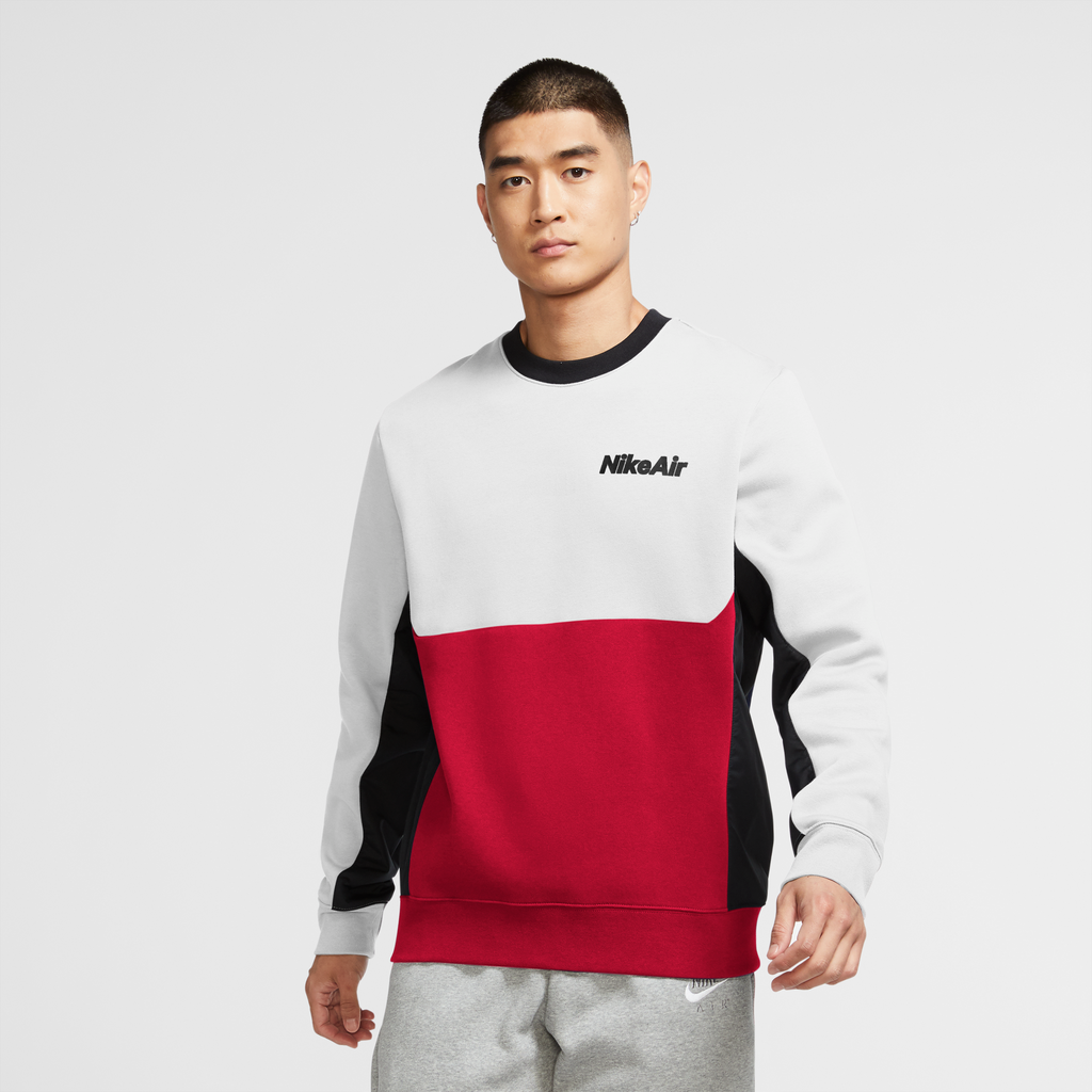 Nike Air Sweatshirt (White/University Red-Black)