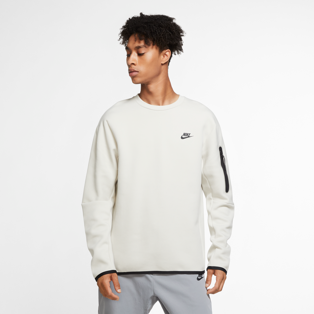 Nike Sportswear Tech Fleece Crew (Light Bone)