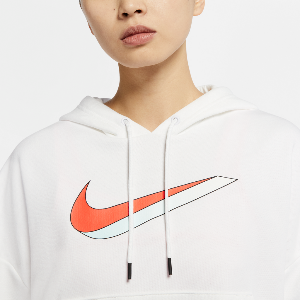 Nike Women's Sportswear Hoodie (White/Solar Red-Light Blue)