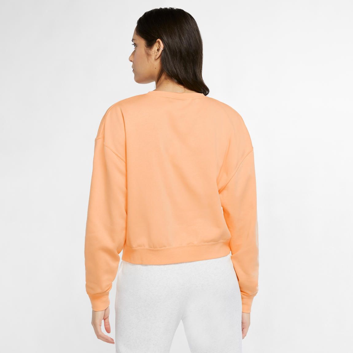 Nike Sportswear Women's Fleece Sweatshirt (Orange Chalk/White-Multi) - Nike Sportswear Women's Fleece Sweatshirt (Orange Chalk/White-Multi) -