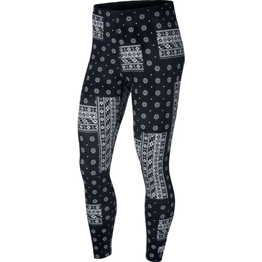Nike Women's AOP Heritage Leggings (Black/White) - Nike Women's AOP Heritage Leggings (Black/White) -