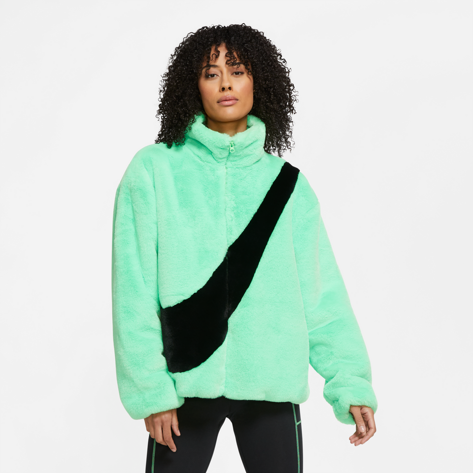 Nike Sportswear Women's Faux Fur Jacket (Poison Green/Black) - Women