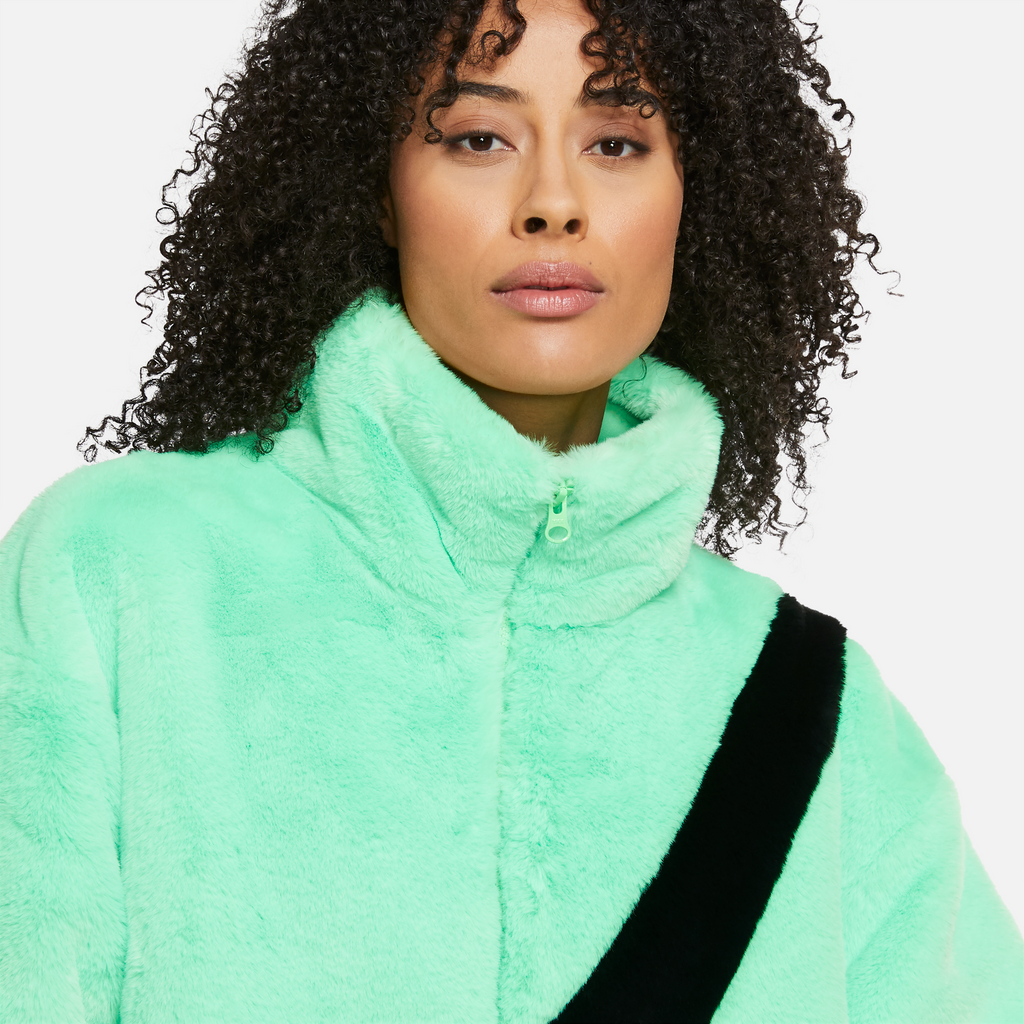 Nike Sportswear Women's Faux Fur Jacket (Poison Green/Black)