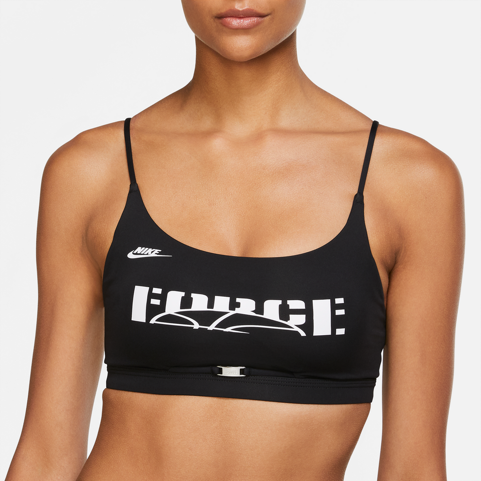 Nike Women's Indy Light Support Bra (Black/White) - Women's - Tees & Tanks