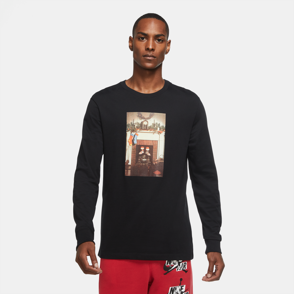 Air Jordan Jumpman Chimney LS Tee (Black)