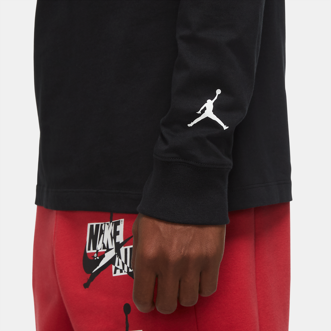 Air Jordan Jumpman Chimney LS Tee (Black) - Air Jordan Jumpman Chimney LS Tee (Black) -