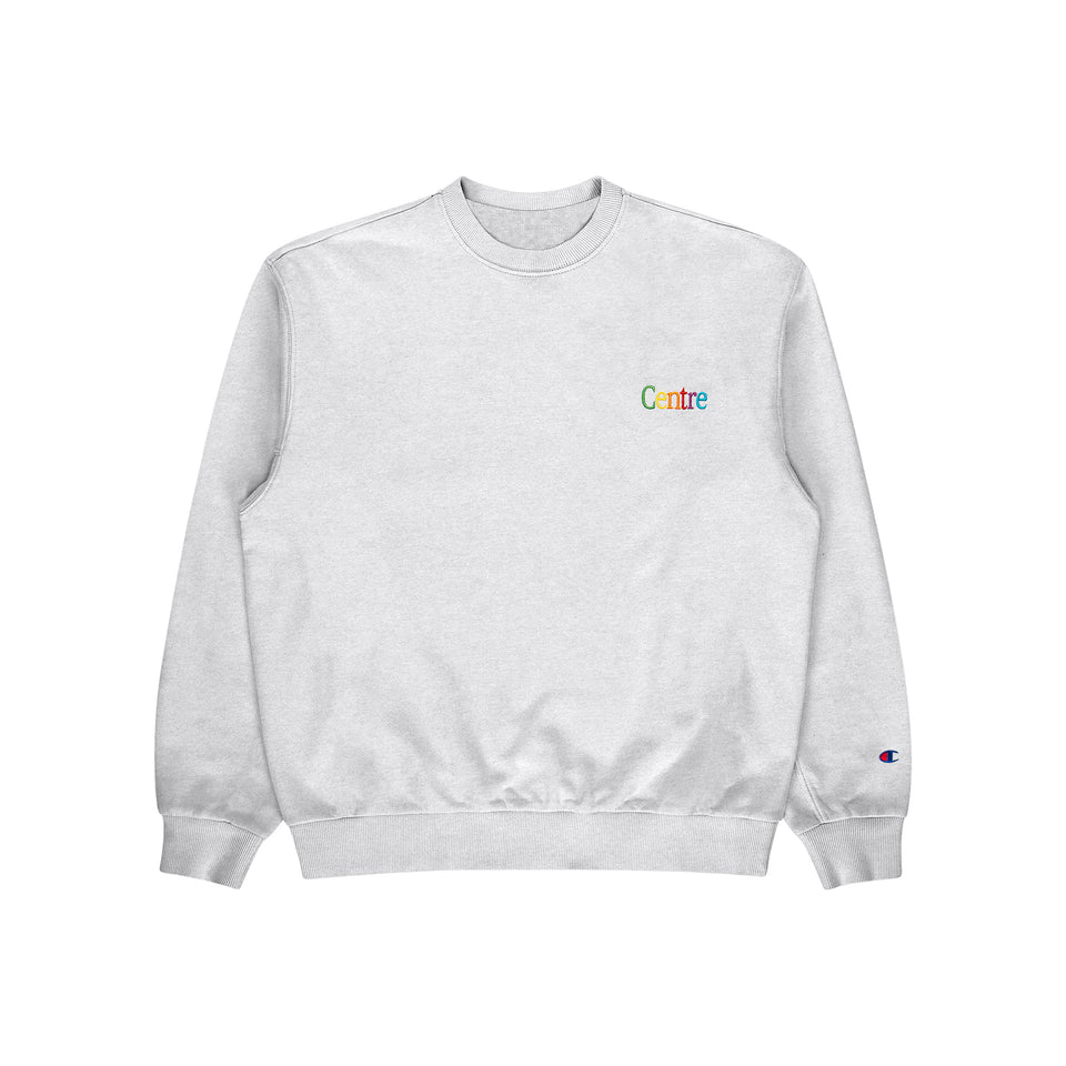 Centre Cyber Heavyweight Crewneck (Silver Grey) - Centre - Cyber Collection