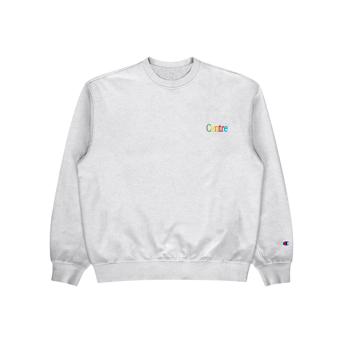 Centre Cyber Heavyweight Crewneck (Silver Grey) - Centre Cyber Heavyweight Crewneck (Silver Grey) -