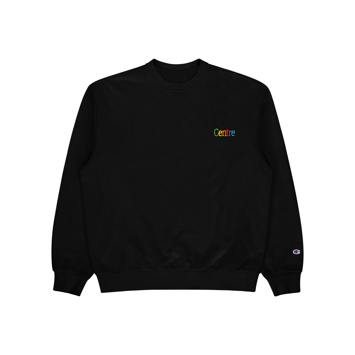 Centre Cyber Heavyweight Crewneck (Black) - Centre Cyber Heavyweight Crewneck (Black) -