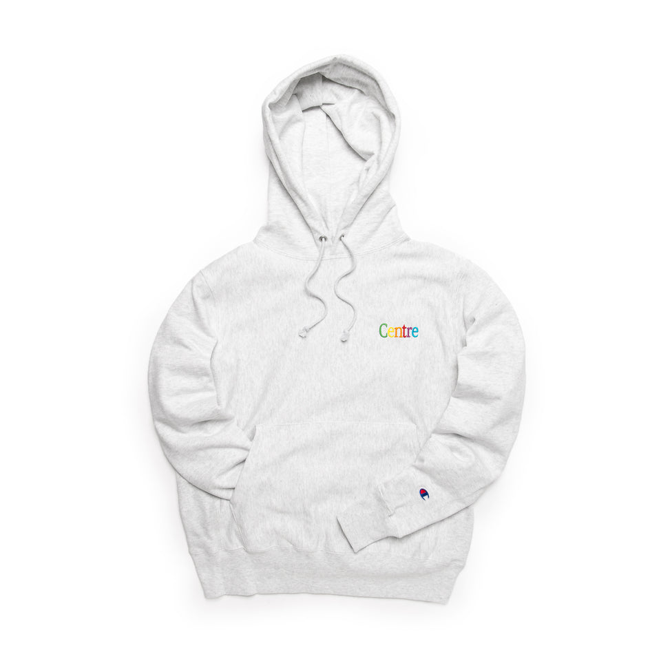 Centre Cyber Heavyweight Hoodie (Silver Grey) - Centre