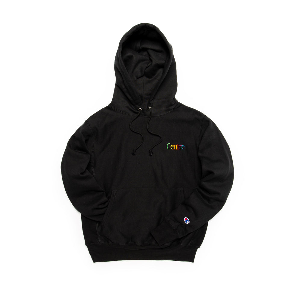 Centre Cyber Heavyweight Hoodie (Black) - Centre