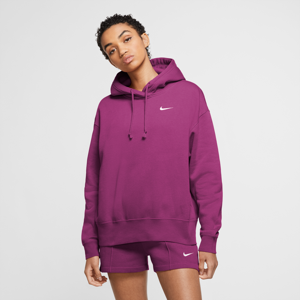 Nike Sportswear Women's Fleece Hoodie (Cactus Flower/White) - Women