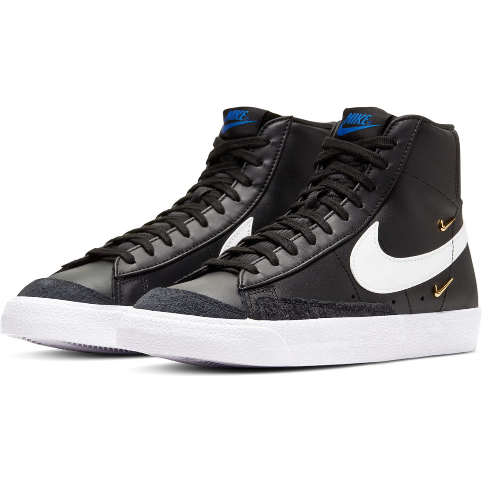 Nike Women's Blazer Mid '77 SE (Black/White-Hyper Royal) - Women