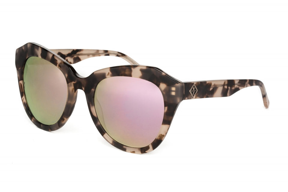 Wonderland Calexico Sunglasses (Rose Tortoise/Rose Gold Mirror) - Accessories - Eyewear