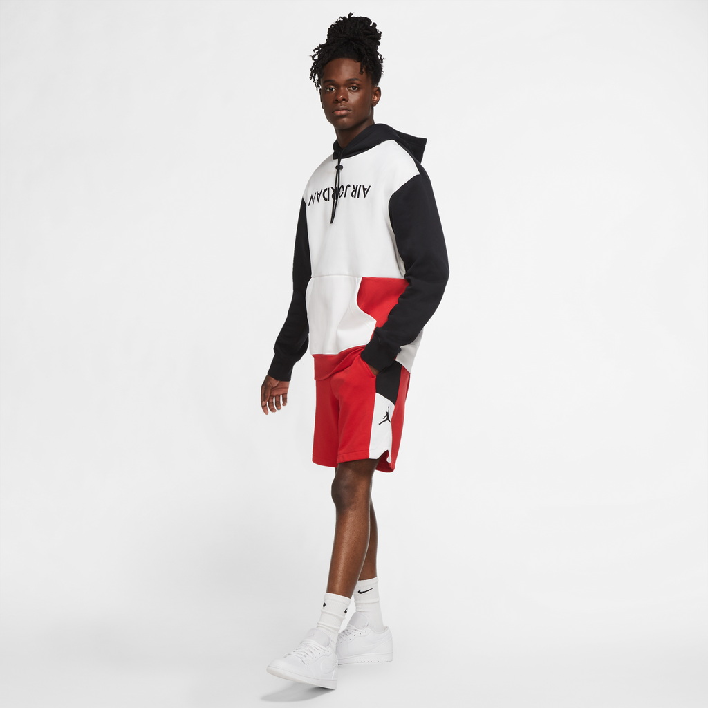 Jordan AJ4 Graphic Hoodie (Black/White/University Red)