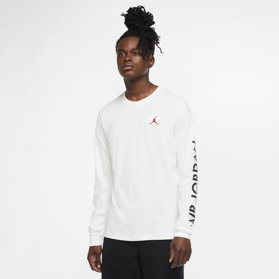 Jordan AJ4 Graphic Long Sleeve Tee (White) - Jordan