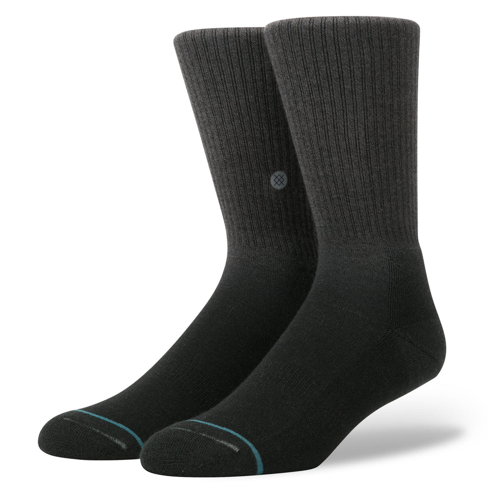 Stance Dos Rios Topstitch Crew Socks (Black) - Socks