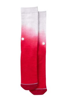 Stance Dos Rios Topstitch Crew Socks (Red)
