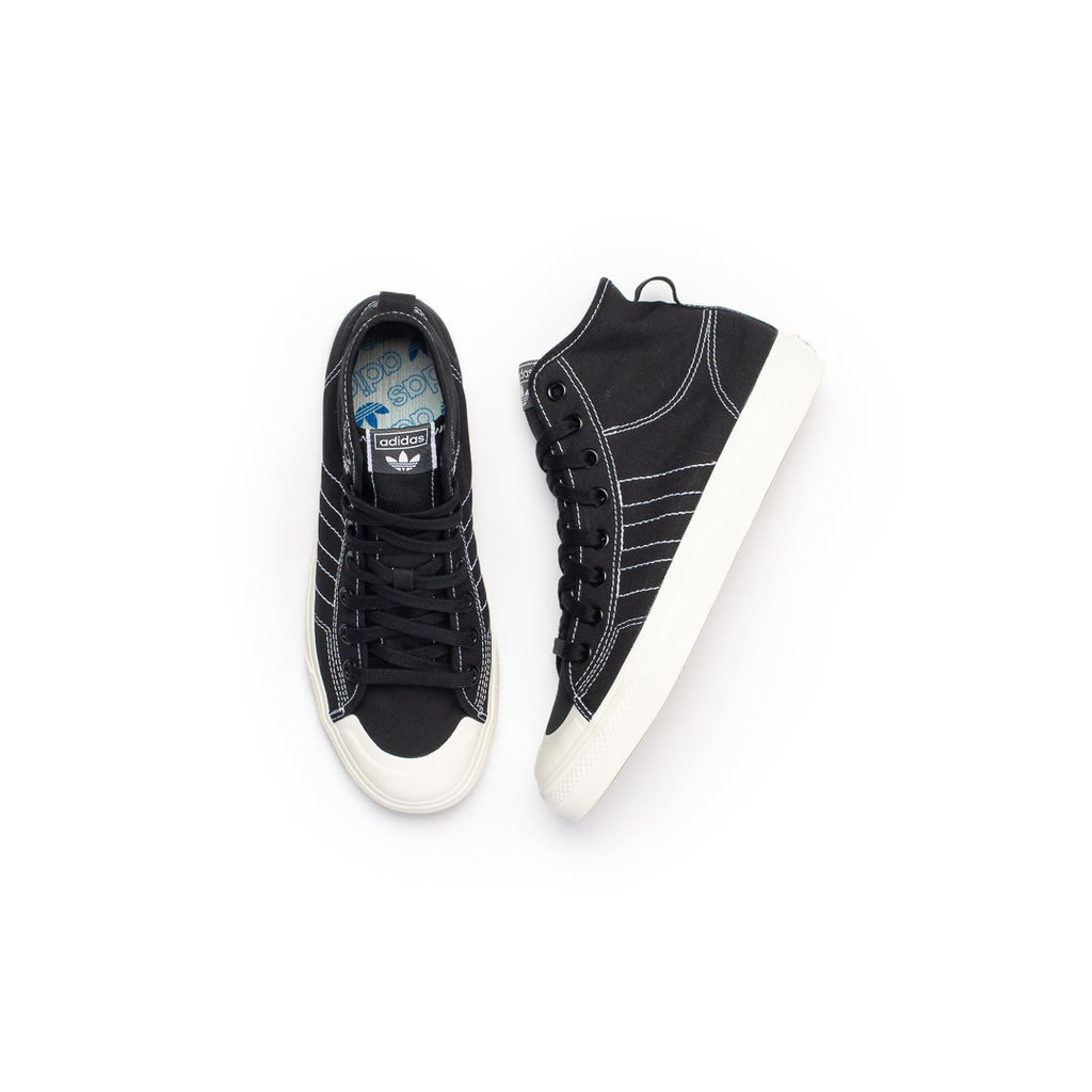 Adidas Nizza RF Hi (Core Black/Footwear White/Off White)