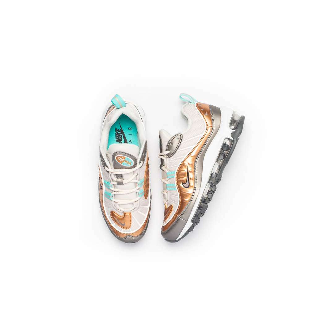 Nike Women's Air Max 98 SE (Phantom/Metallic Pewter-White) - Nike Women's Air Max 98 SE (Phantom/Metallic Pewter-White) -