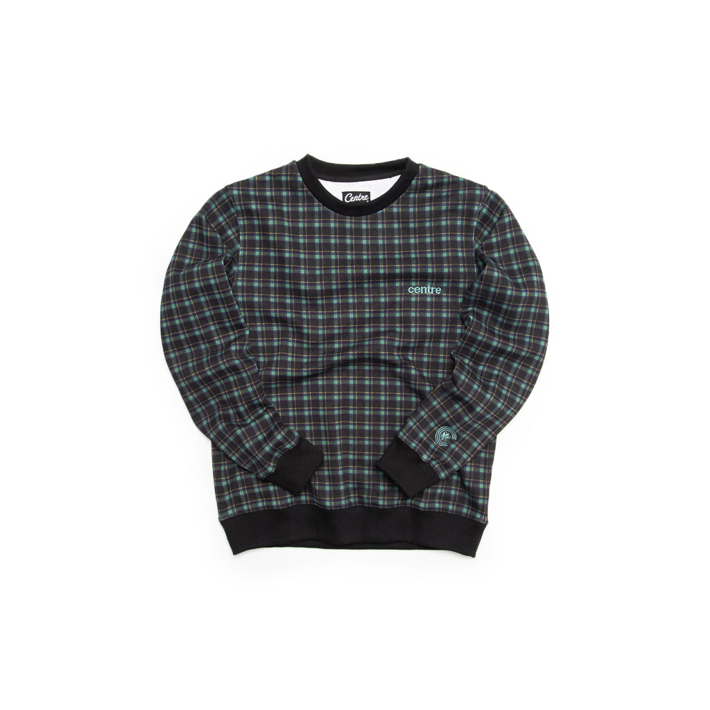 Centre Texas Plaid Crewneck (Navy/Pecos Green)