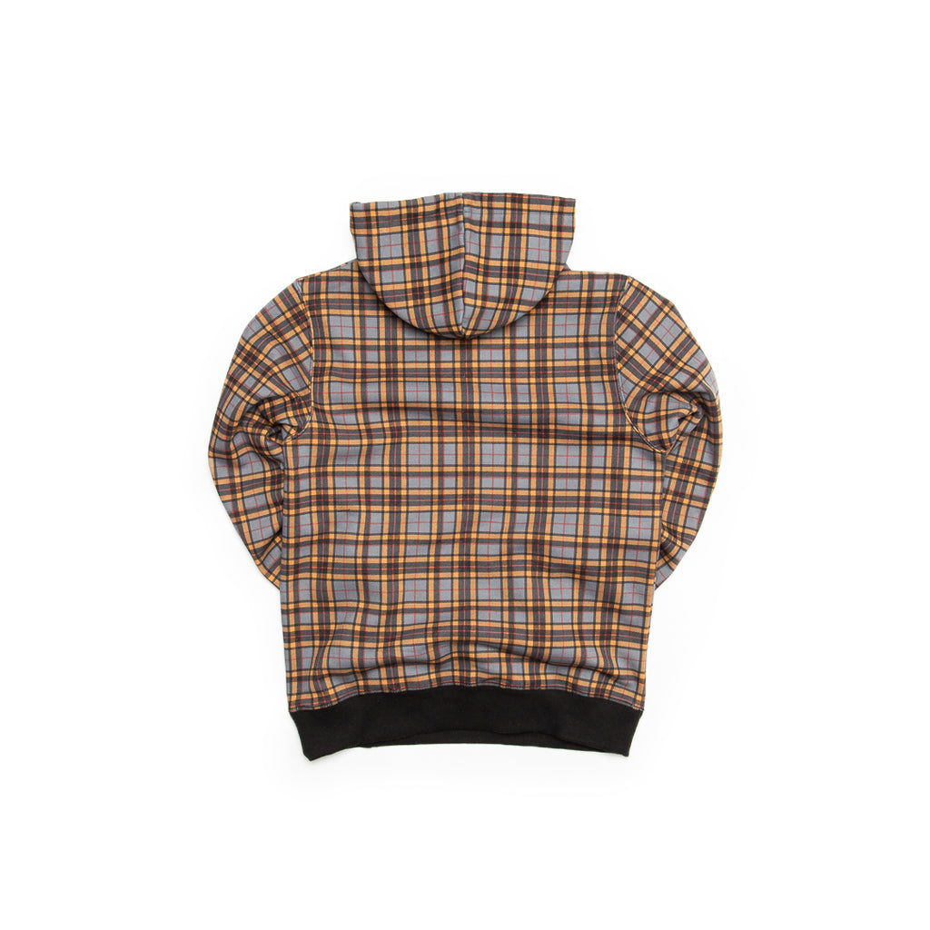 Centre Texas Plaid Hoodie (Grey/Terlingua Orange)