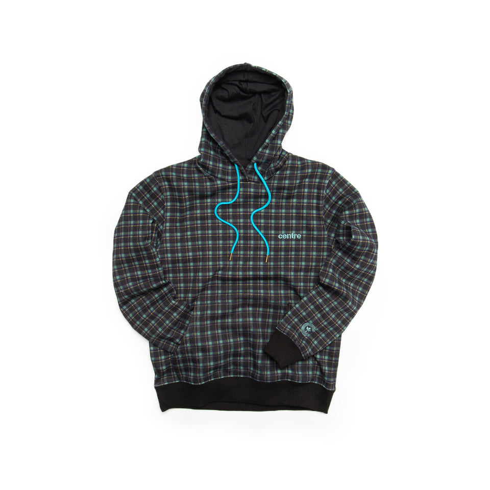 Centre Texas Plaid Hoodie (Navy/Pecos Green) - Centre - Hoodies and Sweatshirts