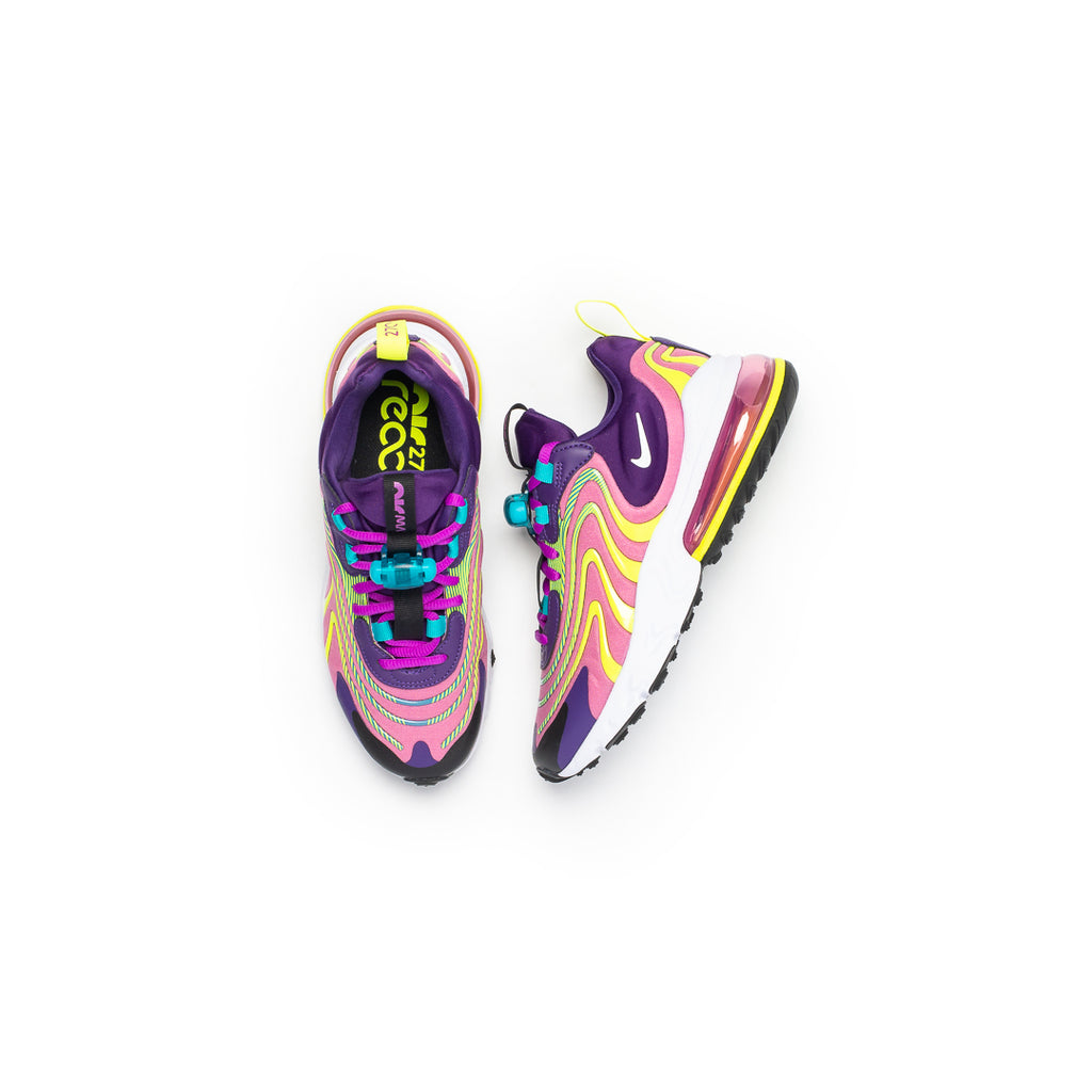 Nike Women's Air Max 270 React ENG (Eggplant/White-Magic Flamingo)