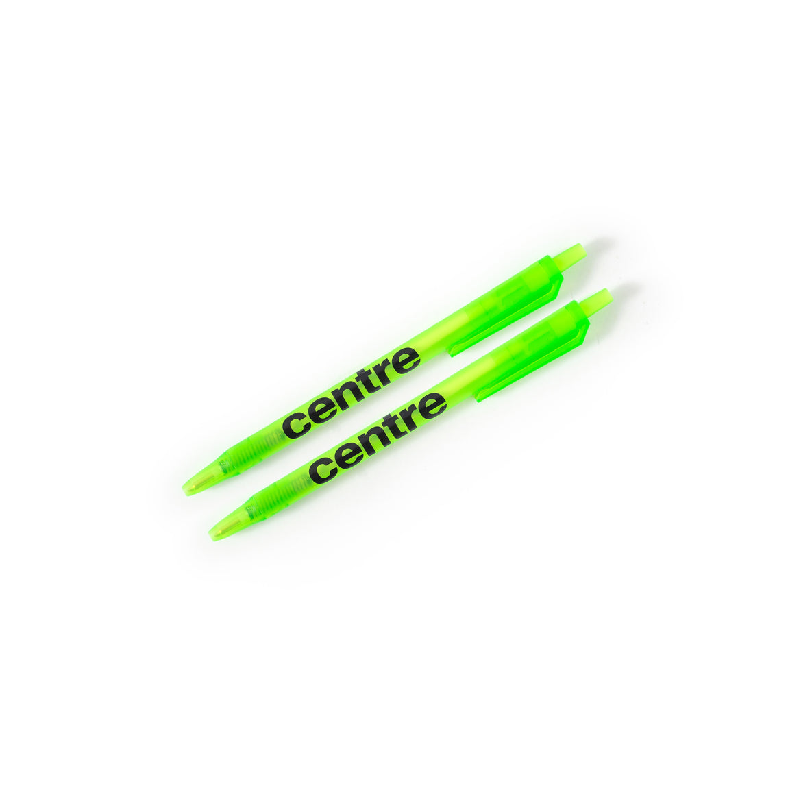 Centre Click Pen 2-Pack (Hyper Green) - Centre Click Pen 2-Pack (Hyper Green) -