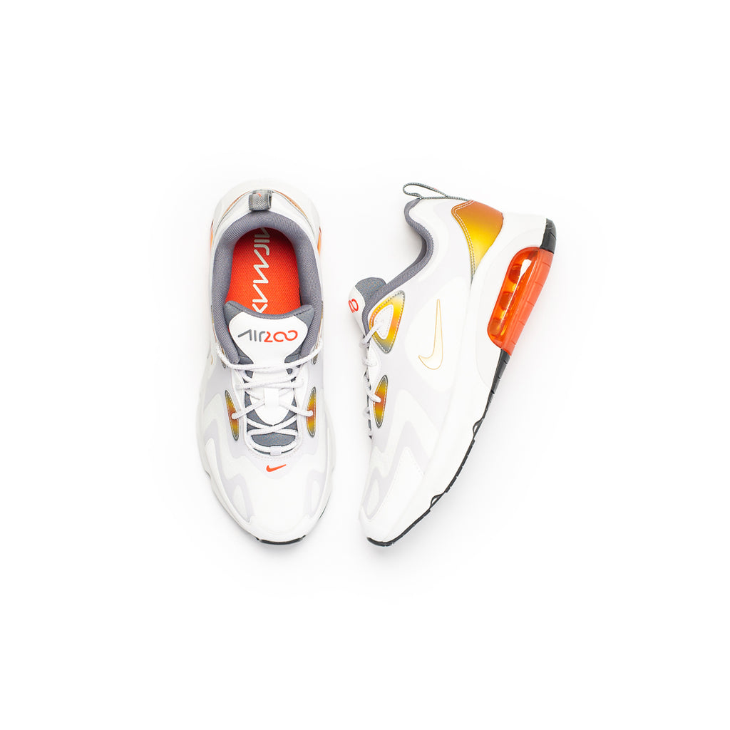 Nike Air Max 200 SE (Summit White/Vast Grey-Orange)