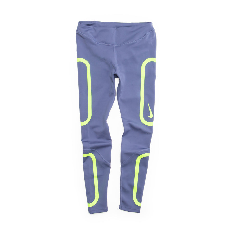 Nike Women's Epic Lux Tights (Sanded Purple/Electric Green) - Women's - Bottoms