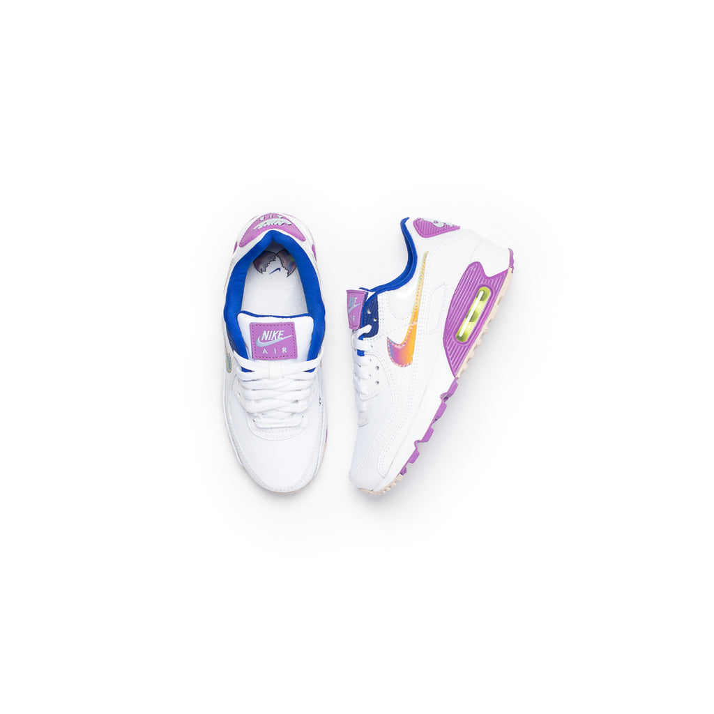 Nike Women's Air Max 90 SE (White/Multi/Purple Nebula)