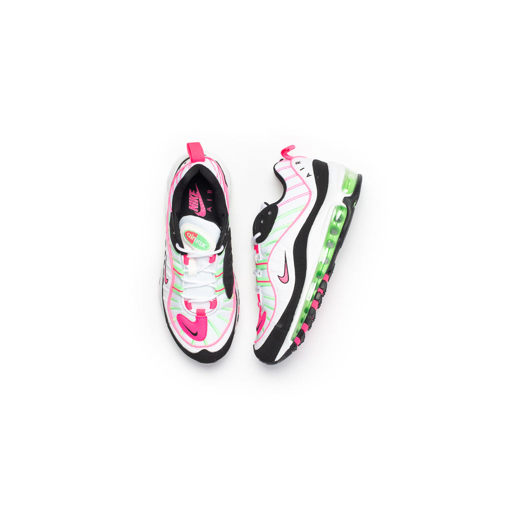Nike Women's Air Max 98 (White/Hyper Pink/Illusion Green/Black)