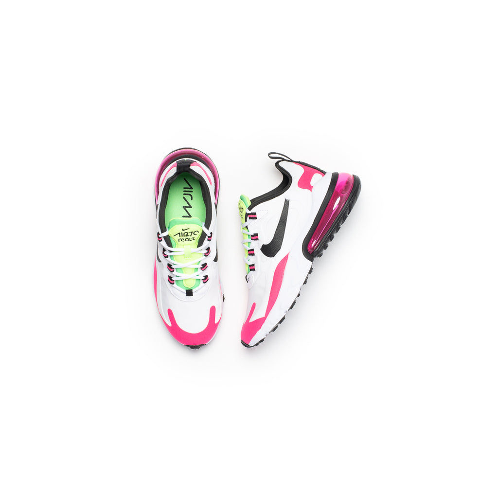 Nike Women's Air Max 270 React (White/Black/Hyper Pink/Pink Blast)