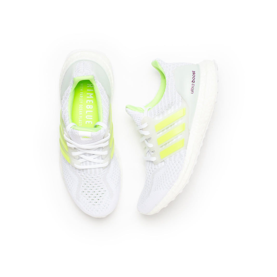 Adidas Women's UltraBoost 5.0 DNA (White/Signal Green/Dash Grey) - Adidas Women's UltraBoost 5.0 DNA (White/Signal Green/Dash Grey) -