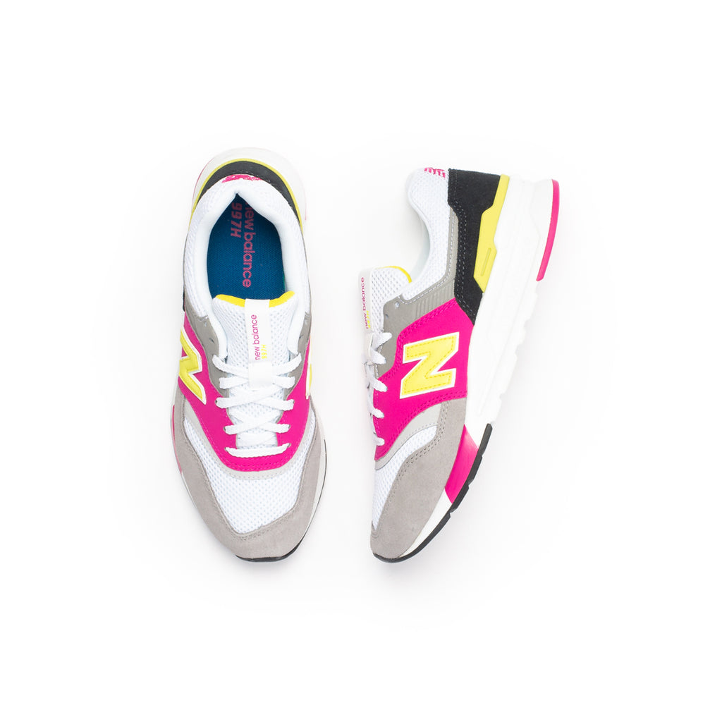 New Balance Women's 997H (White/Pink/Yellow)