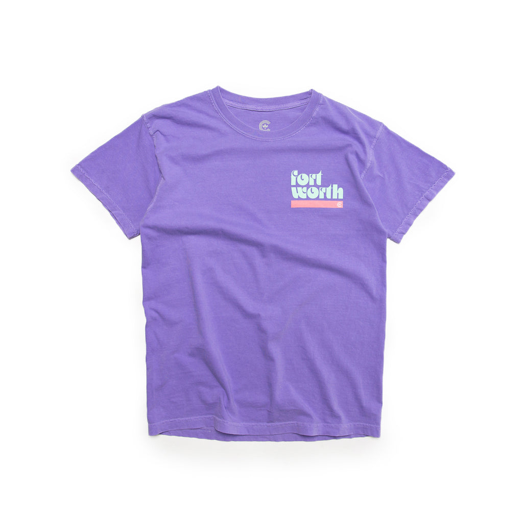 Centre Fort Worth '72 Tee (Violet/Mint Blue/Blush)