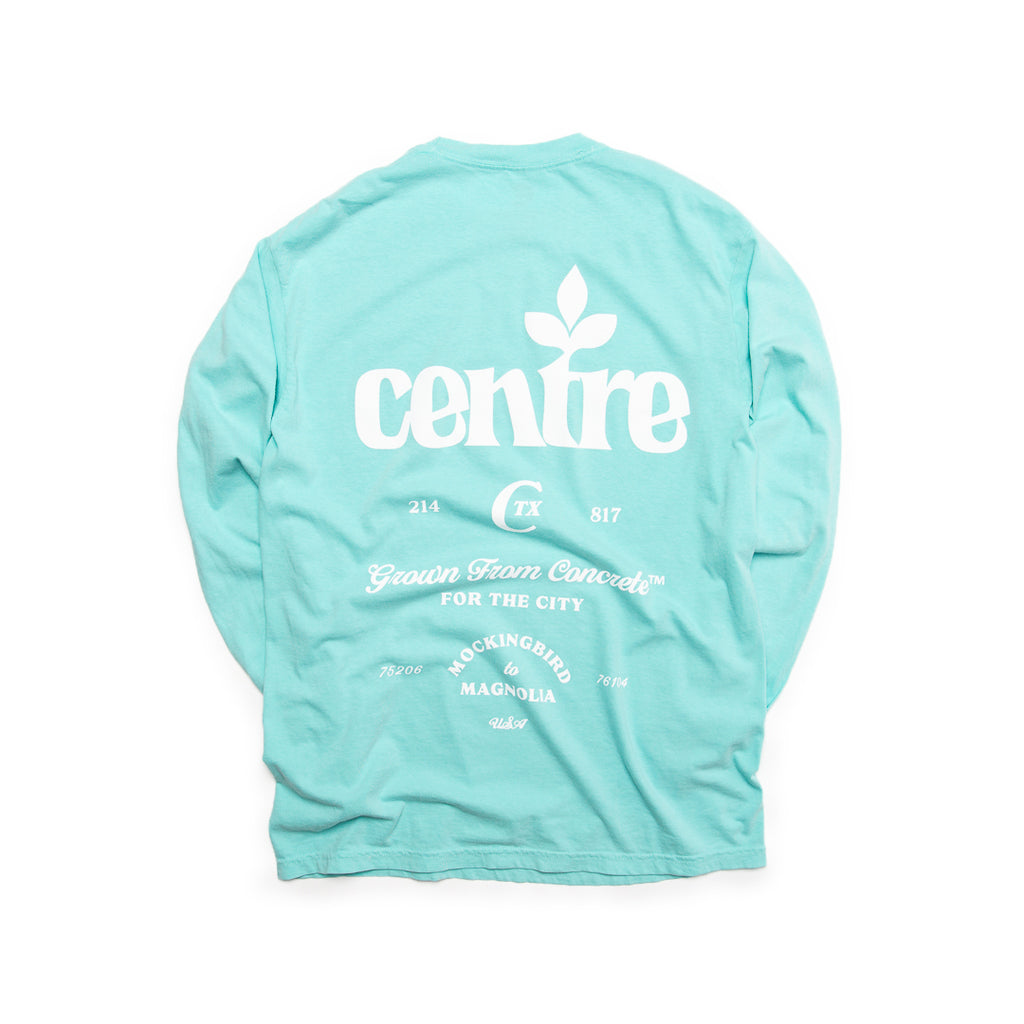 Centre Homegrown Long Sleeve Tee (Chalky Mint/White)