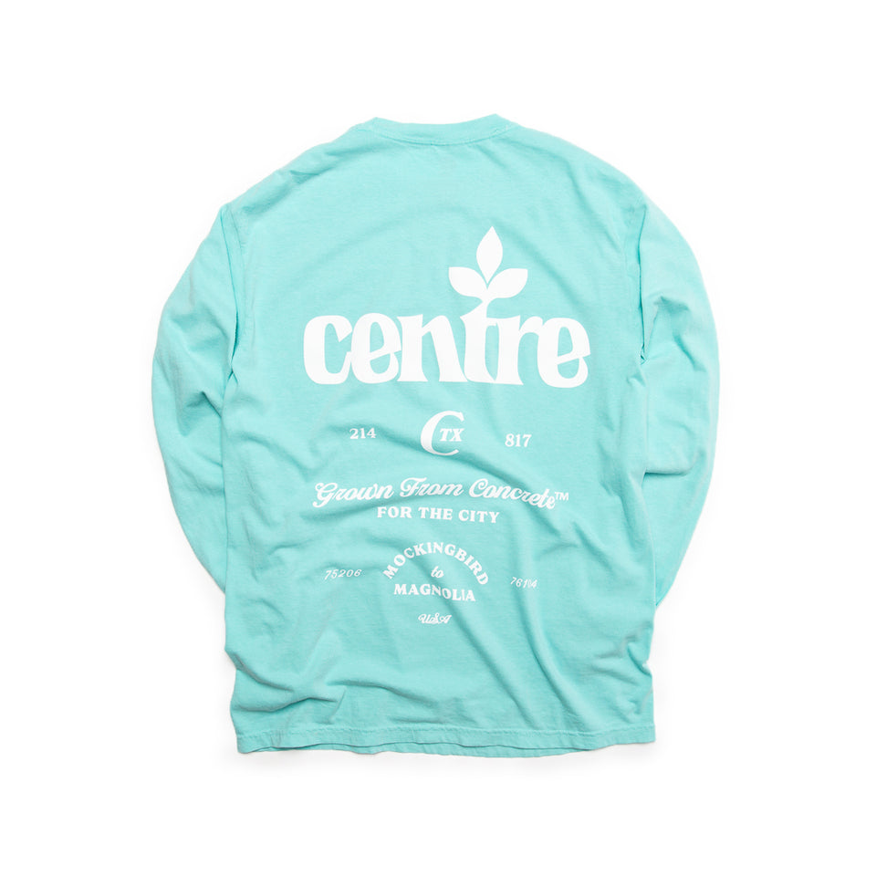 Centre Homegrown Long Sleeve Tee (Chalky Mint/White) - Centre - Homegrown