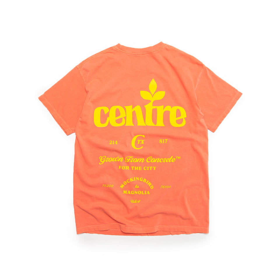 Centre Homegrown Tee (Bright Salmon/Yellow) - Centre - Homegrown