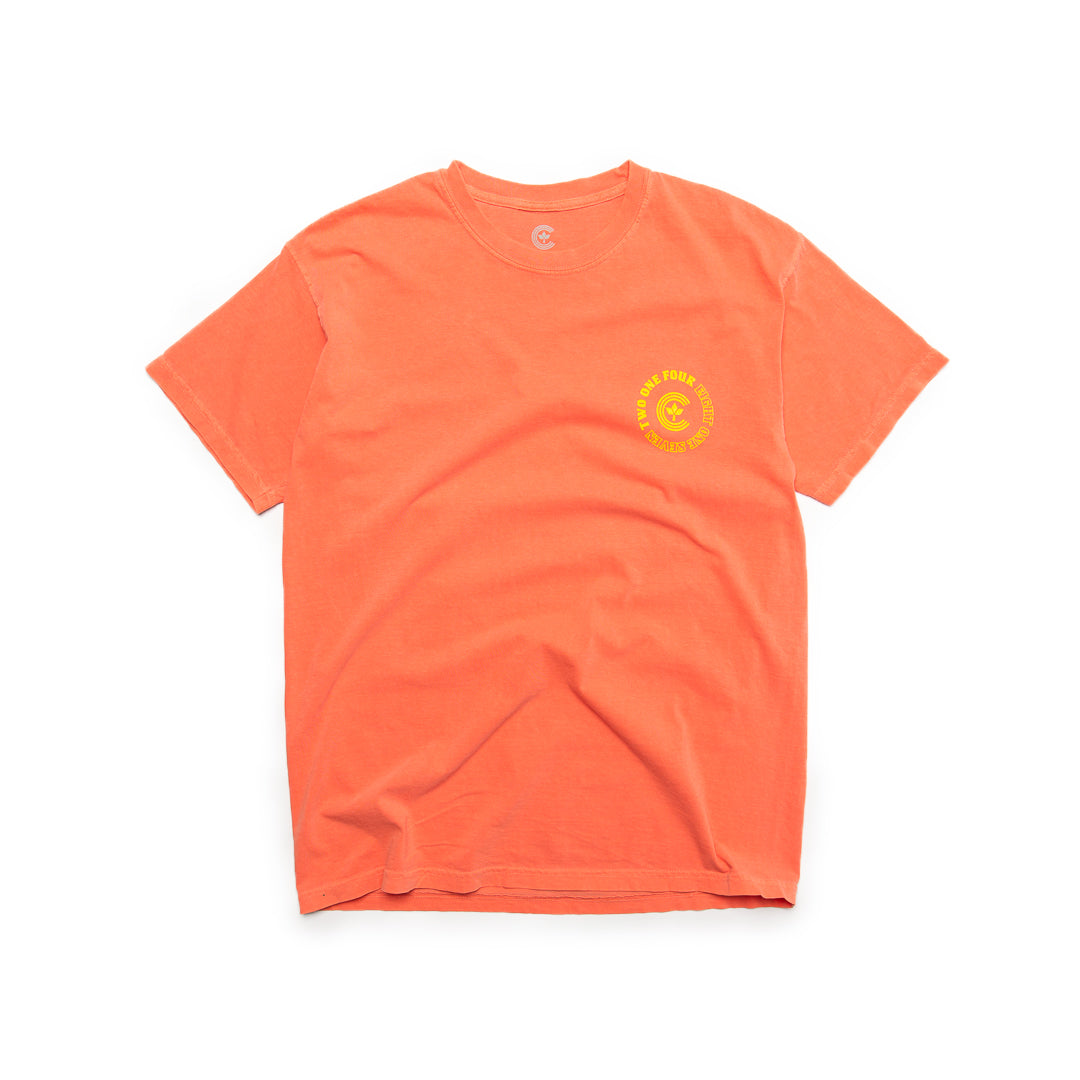 Centre Homegrown Tee (Bright Salmon/Yellow) - Centre Homegrown Tee (Bright Salmon/Yellow) -