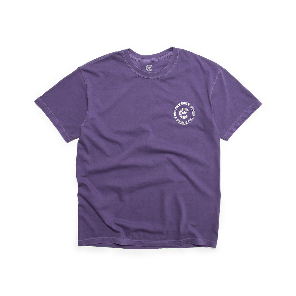 Centre Homegrown Tee (Grape/White)