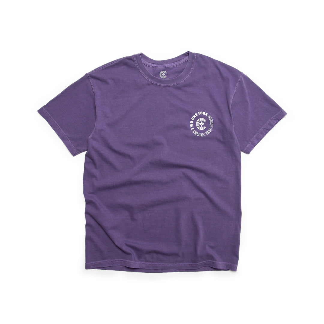 Centre Homegrown Tee (Grape/White) - Centre Homegrown Tee (Grape/White) -