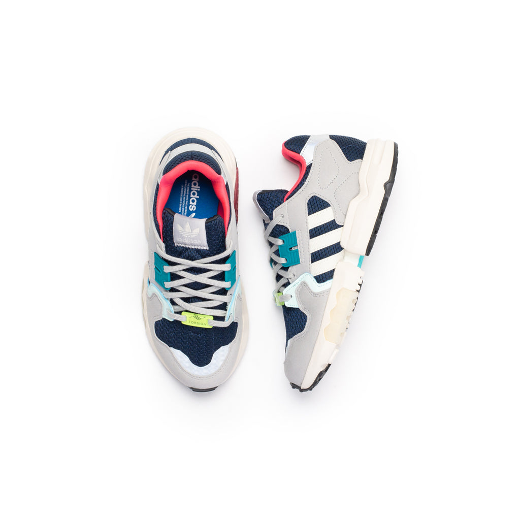Adidas Women's ZX Torsion (College Navy/Off White-Grey Two)