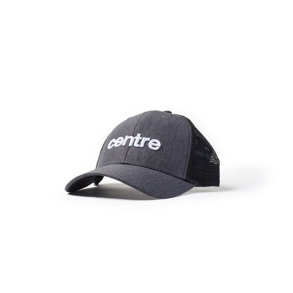 Centre Trucker Hat (Dark Grey/Black)