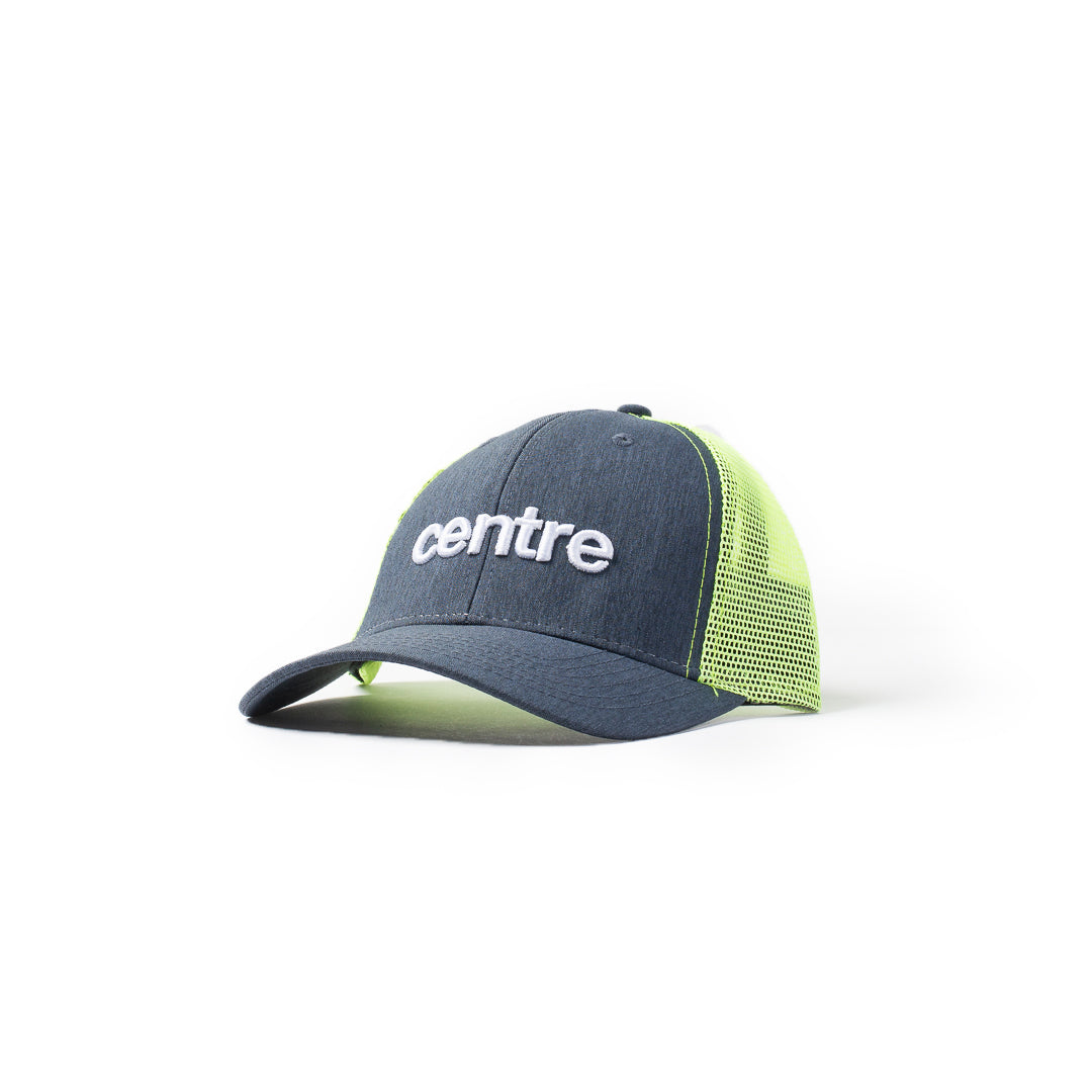 Centre Trucker Hat (Volt/Denim) - Centre Trucker Hat (Volt/Denim) -