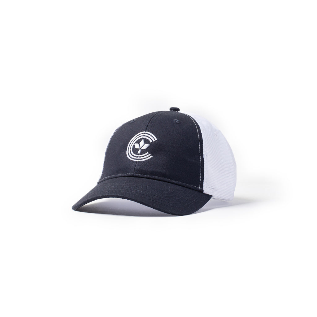 Centre Trucker Hat (Navy/White)