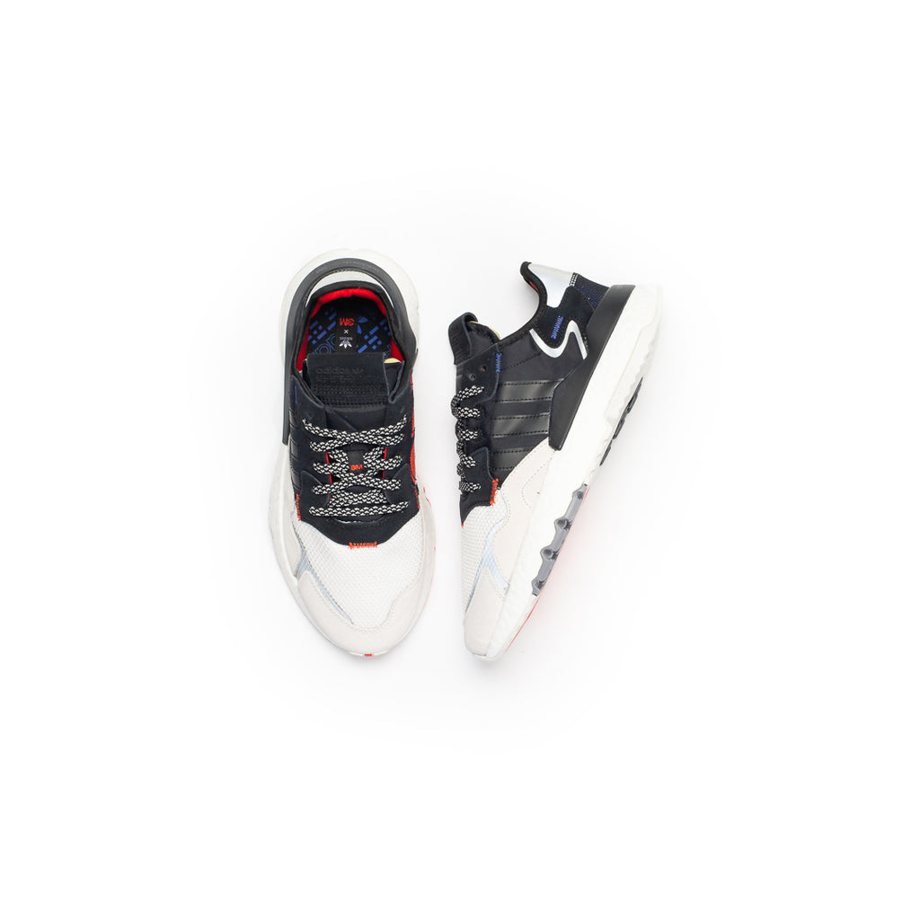Adidas Nite Jogger (Core Black/Crystal White-Red)