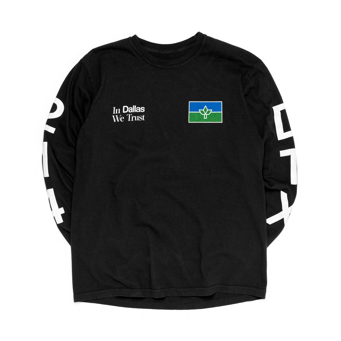 Centre In Dallas We Trust Long Sleeve Tee (Black) - Centre In Dallas We Trust Long Sleeve Tee (Black) -