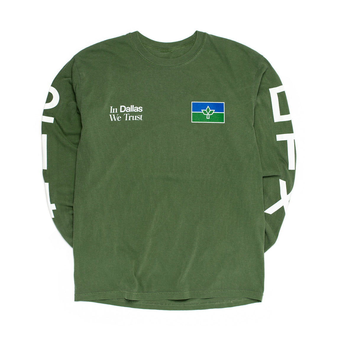 Centre In Dallas We Trust Long Sleeve Tee (Hemp) - Centre In Dallas We Trust Long Sleeve Tee (Hemp) -